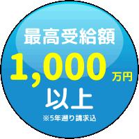 最高受給額1000万円以上